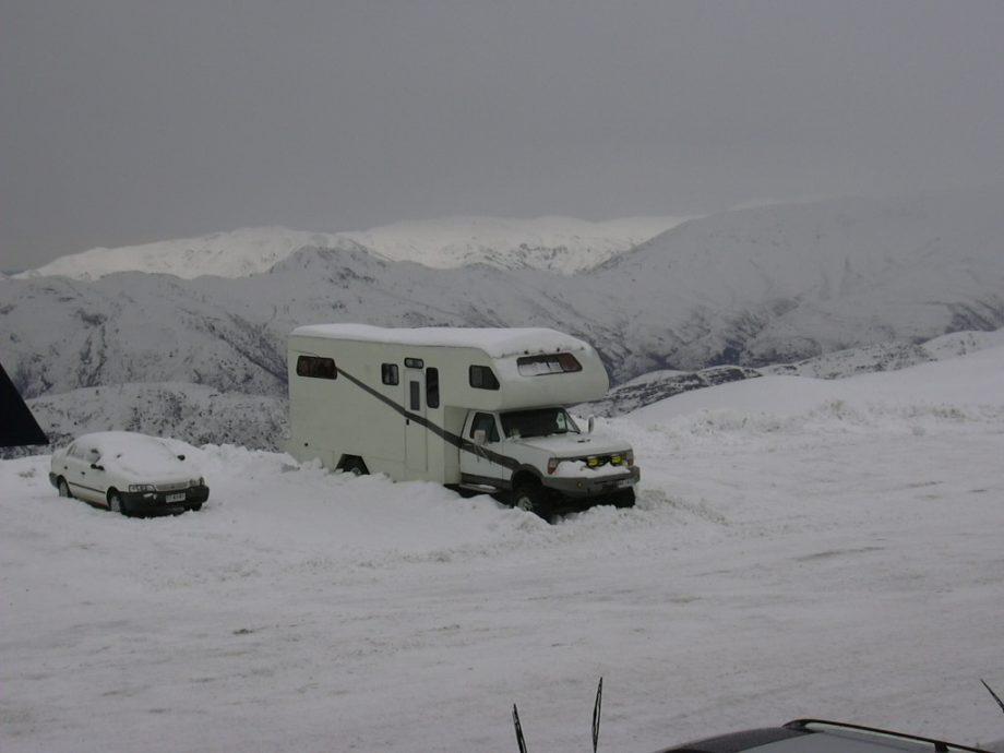 Der Stein und der Schnee…